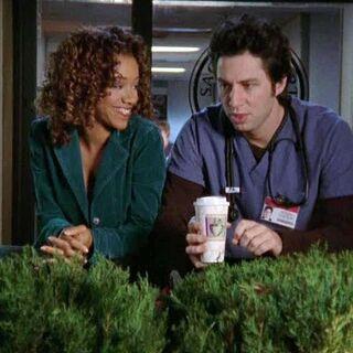 J.D. and Kylie talk outside the hospital