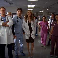 The staff awaits Dr. Maddox's entrance