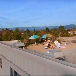 A rooftop beach...