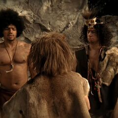 J.D. and Turk as cavemen