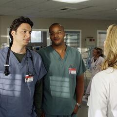 Turk erzählt Carla, dass er sein Gewicht nicht wissen möchte...