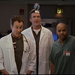 Dr. Cox, Turk and Janitor find the solution