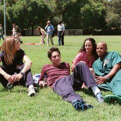 Elliot, J.D., Carla und Turk im <a href=