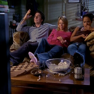 J.D., Danni, and Carla watch <i><a href=