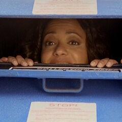 Carla in a mailbox
