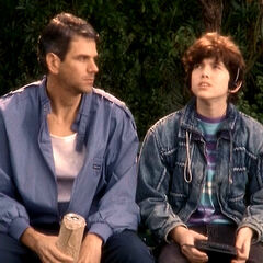 A young Todd and his dad