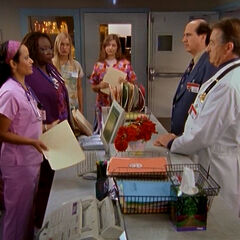 Dr. Kelso is confronted by the nurses