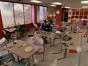 3x1 empty cafeteria