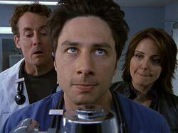 2x17 Cox and Jordan watch JD pee