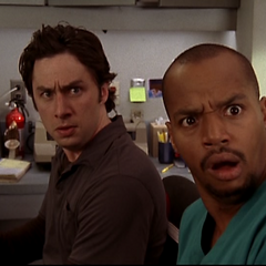 J.D. and Turk are shocked by Carla