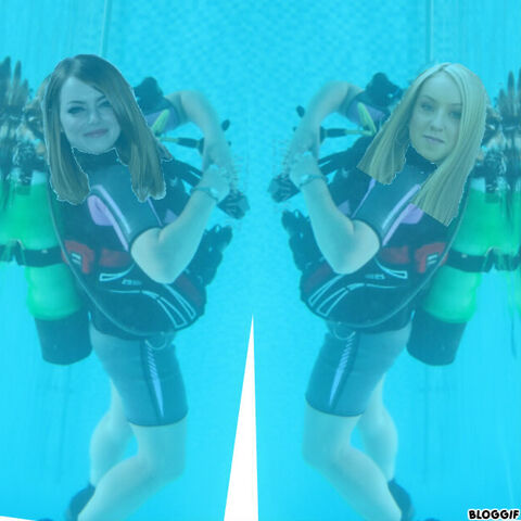 File:Emma Stone and Sophie Bennett scuba diving without masks.jpg