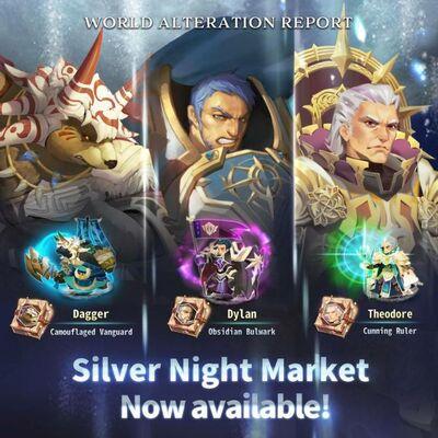 Silver Night Market Banner