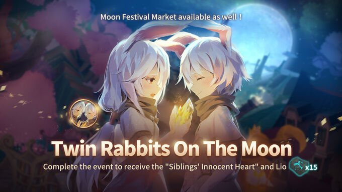 Twin Rabbits On The Moon Event