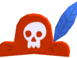 Pet Red Pirate Hat