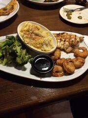 Jack Daniels chicken and shrimp meal