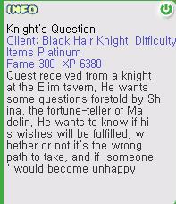 Knight's Question