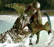 PREHISTORIC CROCODILE ATTACK