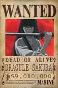 Dracule Sakura - Wanted Poster
