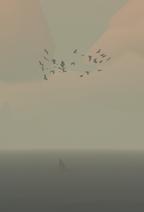 Gaviotas sobre un naufragio