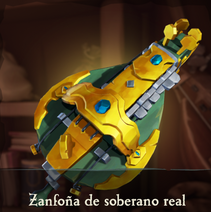 Zanfoña de soberano real