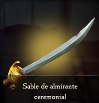 Sable de almirante ceremonial