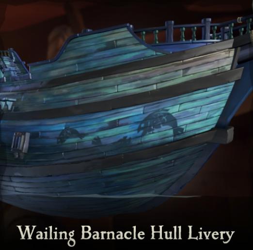 Wailing Barnacle Hull Livery   Sea of Thieves Wiki   FANDOM