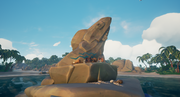 Sea of Thieves - Fin rock on Shark Bait Cove