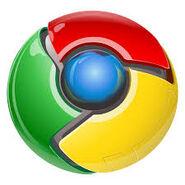 Google Chrome Logo 3D