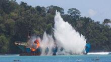 Fishing vessel sunk 16x9