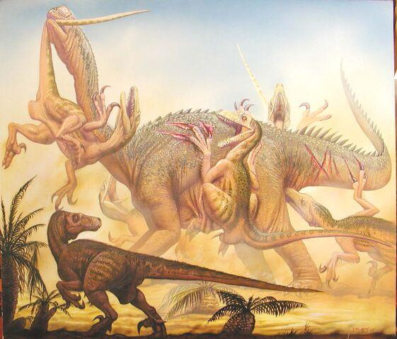 File:Utahraptor vs Astrodon.jpg