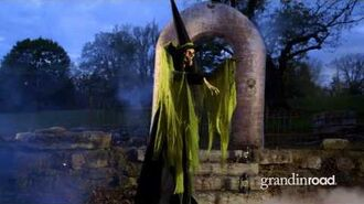 Animated Towering Macabre Witch - Grandin Road