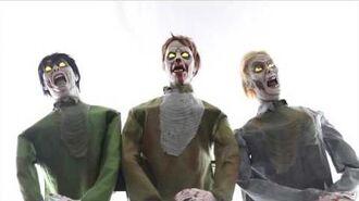 Zombie Horde Animated Halloween Prop Lifesize Haunted House Horror Animatronic