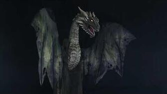 MR124633 Winter Forest Dragon Animated Prop