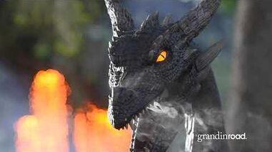 Animated Dark Night Dragon Grandin Road