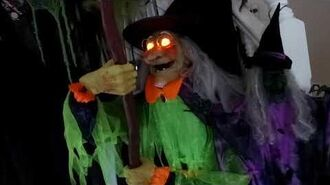 Costco Halloween Animated Life Size Witch With Cauldron