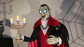 Costco Halloween 2018 Vampire Host with Bat (Seasonal Visions)