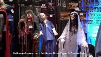 HalloweenAsylum.com - 2012 Props - Pestilence, Nurse Payne & Zombie Bride