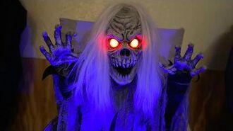 2018 Morris Costumes Seasonal Visions PROTOTYPE Rising Crypt Ghoul Animatronic Halloween Prop