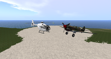 EC135 and P-40 001