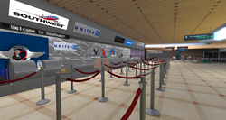 East River Int Airport, check-in counters (08-14)
