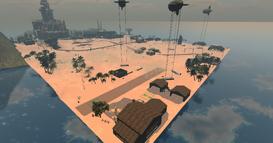 Desert combat area