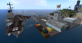 USS Nimitz Carrier, looking SW (11.13)