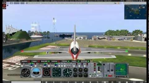 Second Life DC10 Iberia Landing at SLHA with traffic