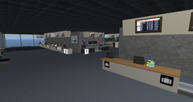 Firelands Intercontinental Airport, check-in counters (01-15)
