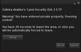 Security orb notification