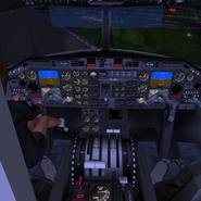 Babsi im Cockpit der D-120