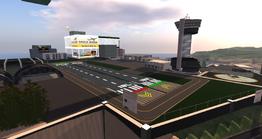Star Fish Lake Regional Airport, looking SW (04-14)