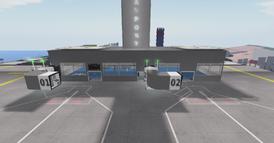 DT Regional Skyport terminal front view