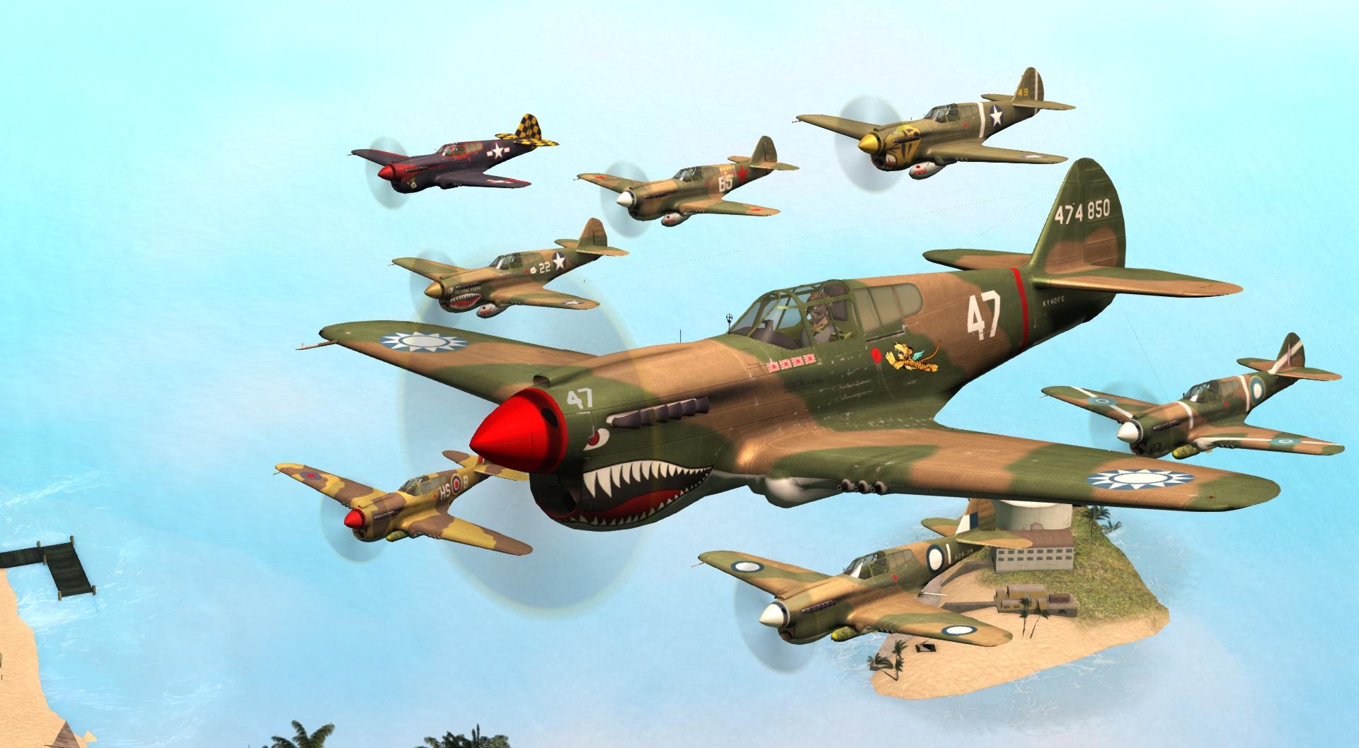 Patch Curtis P40 Kittyhawk USAAF