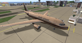 Anubis Airways Airbus A318 at Hollywood